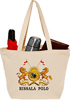 Custom 18W x 13H Getaway Totes with Zipper
