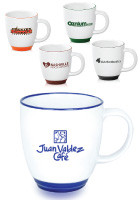 Personalized 12oz Halo Bistro Wide Body Coffee Cups