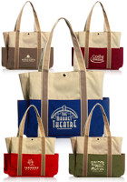 Promotional 13 W x 12 H Dual Colored Tote Bags
