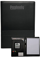 Wholesale 13 x 9.125 in. Double Stitched Padfolio with Calculator