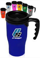 Custom 14 oz. Plastic Insulated Travel Mugs