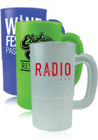 Customized 14 oz. BPA Free Plastic Beer Steins