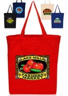 Custom 14 W x 16 H Cotton Gusseted Tote Bags