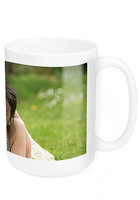Personalized 15 oz. White Ceramic Photo Mugs - No Minimum