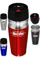 Customized 16 oz. Double Insulated Engraved Travel Mugs