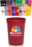 Personalized 16 oz. Full Color Plastic Stadium Cups