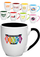 Promotional 16 oz. Miami Two-tone Bistro Mugs