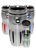 DM899 - 16 oz.  Sporty Stainless Steel Discount Tumblers