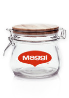 Personalized 16oz Glass Candy Jars with Wire Wooden Lids