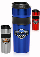 Personalized 16oz. Grip Stainless Steel Engraved Travel Mugs