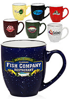 Promotional 16oz Two Tone Speckled Bistro Mugs