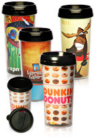Wholesale 16 oz. Paper Insert Photo Travel Mugs