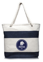 TOT3778 - Striped 16oz. Canvas Tote Bags with Rope Handles #TOT3778