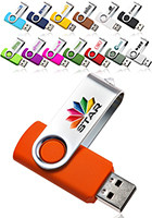 Custom 2GB Swivel USB Flash Drives