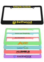 Custom 2 Holes License Plate Frames with Straight Tops