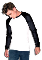 Custom Canvas Mens Jersey Long-Sleeve Baseball T-Shirt