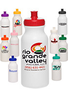 WB20USA - 20oz White Super Value Sports Bottles