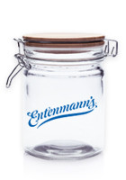 Personalized 22 oz. Candy Jars with Hinged Wood Lids