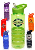 24 oz. Gripper Personalized Water Bottles with Straw