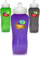 Wave Plastic Water Bottles