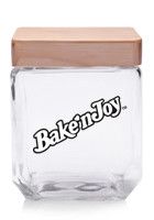 Custom 41 oz Goodies Glass Candy Jars with Wooden Lids