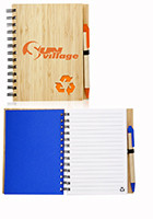 Promotional 5.25 x 6.9 in Eco Recycled Bamboo Notebooks