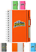 Custom 5.5 in  x 7 in Recyclable Bright Eco Notebooks