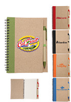 Custom 7 in x 5 1/2 in Recycled Notebooks with Matching Pen