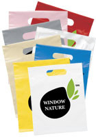 Customized 9 W x 12 H Die Cut Handle Bags