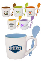 Customized 9oz Two-tone Ceramic Spooner Mugs