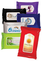 Customized Antibacterial Wet Wipes, Full Color