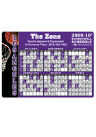 Custom Basketball Schedule 4.13in x 5.75in Magnets