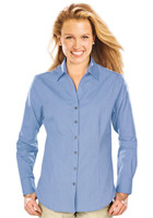 Personalized Blue Generation Ladies Long Sleeve Crossweave Shirts