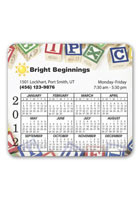 Customized Calendar Round Corner 3.88inch x 3.5inch Magnets
