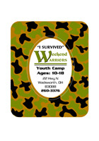 Wholesale Camouflage 3in x 3.75in Magnets