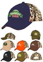 Wholesale Camouflage Brushed Cotton Twill Sandwich Visor Caps