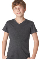 Wholesale Canvas Youth Jersey VNeck T shirt