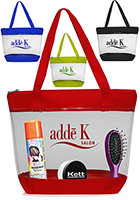 Personalized 14 W x 12 H Clear Zippered PVC Tote Bags