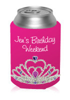 B-Day Crown Can Cooler