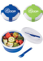#X20040 - Custom Printed Silicone Collapsible Lunch Set