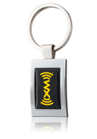 Personalized Logo Metal Two Tone Keychains at Wholesale Prices