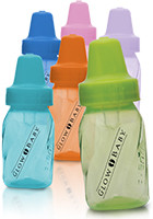 #IL405 Customized 4 oz Assorted Color Evenflo Baby Bottles
