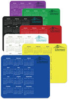 Vertical Customized Calendar Mouse Pads