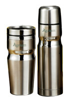 Custom Deco Band Insulated Bottle & Tumbler Gift Sets