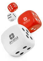 Dice Shaped Stress Balls