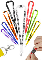 Snap Clip Polyester Lanyards