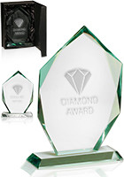 Personalized Shield Jade Glass Awards