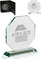 Customized Octagon Glass Awards