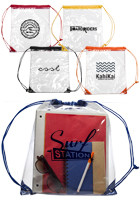 Clear Plastic Drawstring Bags