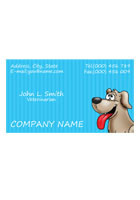 Personalized Grey Dog 3.5inch x 2inch Magnets